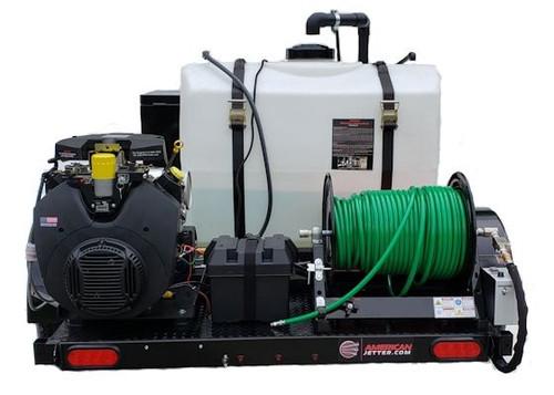 58 Series Trailer Jetter 2022 - 38 HP EFI, 20 GPM, 2200 PSI 200 Gallon