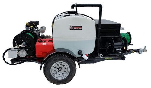 58 Series Trailer Jetter 1230 - 38 HP EFI, 12 GPM, 3000 PSI 200 Gallon