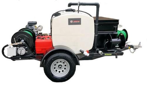 58 Series Trailer Jetter 1030 - 26.5 HP EFI, 10 GPM, 3000 PSI 200 Gallon