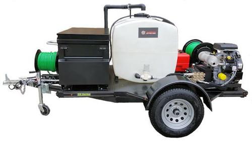 58 Series Trailer Jetter 840 - 26.5 HP EFI, 8 GPM, 4000 PSI 200 Gallon