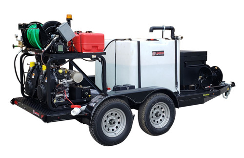 51T Series Trailer Jetter 1250 - 76 HP EFI, 12 GPM, 5000 PSI, 330 Gallon