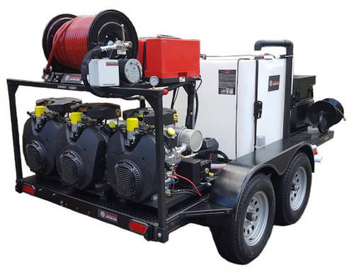 51T Series Trailer Jetter 1850 - 114 HP, 18 GPM, 5000 PSI, 300 Gallon