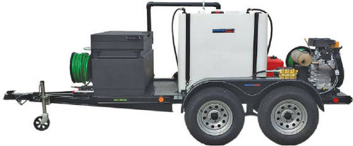 51T Series Trailer Jetter 1530 - 38 HP EFI, 15 GPM, 3000 PSI, 300 Gallon