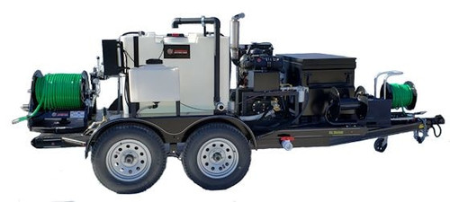 51TD Diesel Trailer Jetter 1840, 18 GPM, 4000 PSI, 330 Gallon, Hydraulic Reel