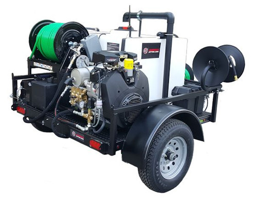 55 Series Trailer Jetter 1040 - 38 HP EFI, 10 GPM, 4000 PSI