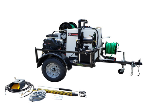 55 Series Trailer Jetter 740 - 27 HP, 7 GPM, 4000 PSI