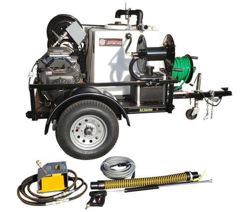 55 Series Trailer Jetter 1030 - 26.5 HP EFI, 10 GPM, 3000 PSI