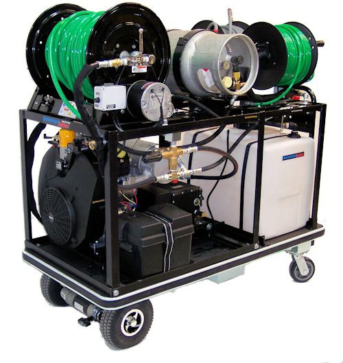 Electric Platform Cart 1140 Propane - 37 HP, 11 GPM, 4000 PSI, 30 Gallon