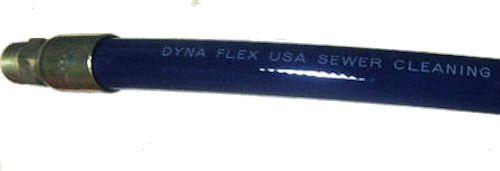 "Dynaflex Jet Hose 1""x600' MxMS 3000 PSI Blue"