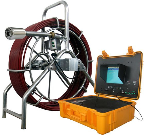 Sewer Drain Camera  200' Cable 512Hz Sonde DVR with Footage Counter