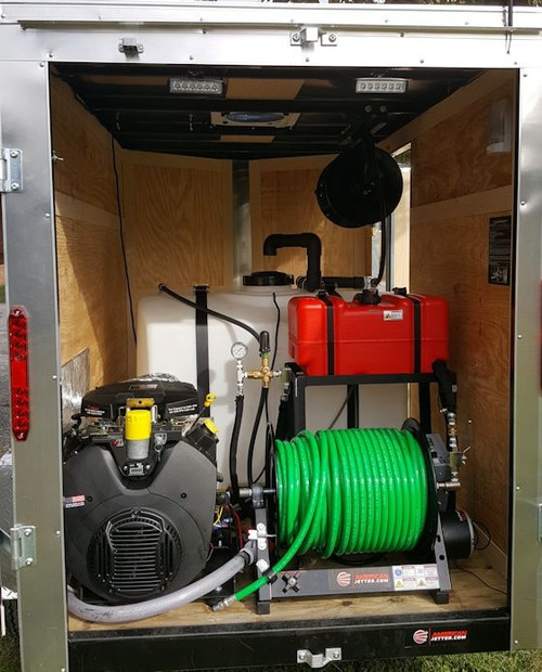 58C Cargo Trailer Jetter 740 - 27 HP, 7 GPM, 4000 PSI, 200 Gallon