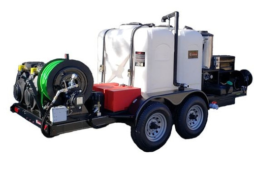 51T Series Trailer Jetter 1740 Hot Jetter - 65 HP, 17 GPM, 4000 PSI, 600 Gallon