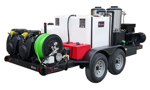 51T Series Trailer Jetter 1840 Hot Jetter - 76 HP EFI, 18 GPM, 4000 PSI, 300 Gallon