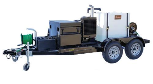 51TD Series Diesel Trailer Jetter 2040, 20 GPM, 4000 PSI, 330 Gallon