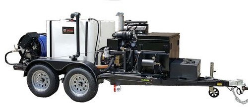 51TD Diesel Trailer Jetter 4020, 40 GPM, 2000 PSI, 600 Gallon, Hydraulic Reel