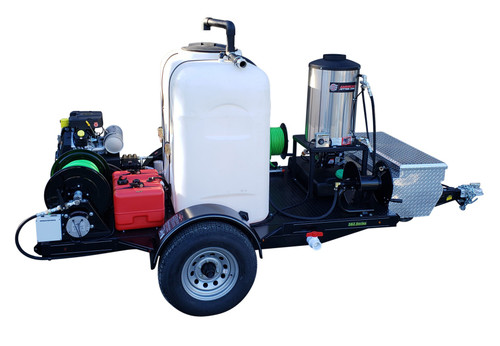 583 Series Hot Jetter Trailer Jetter 1238 - 38 HP EFI, 12 GPM, 3800 PSI 300 Gallon