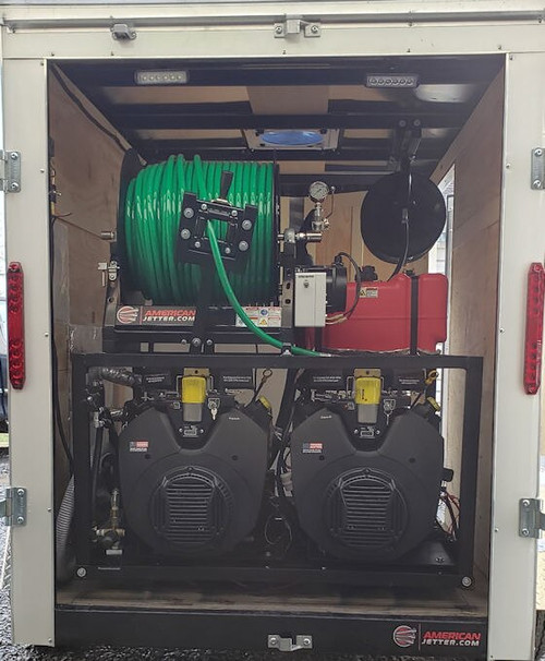 58C Cargo Trailer Jetter 1840 76 HP EFI, 18 GPM, 4000 PSI, 200 Gallon