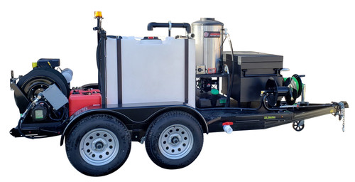 51T Series Trailer Jetter 1040 Hot Jetter - 38 HP EFI, 10 GPM, 4000 PSI, 300 Gallon