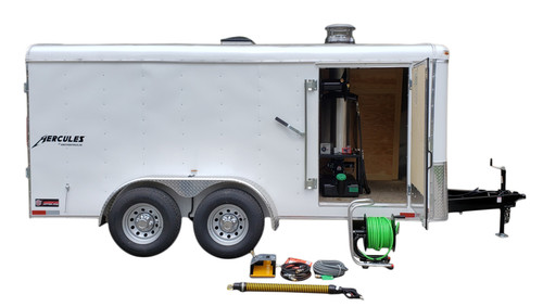61CT Series Tandem Axle Trailer Hot Jetter 1040 - 38 HP EFI, 10 GPM, 4000 PSI, 300 Gallon