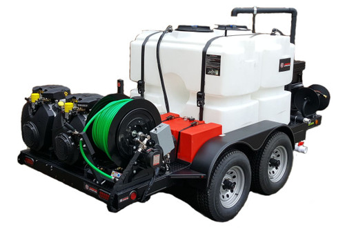 51T Series Trailer Jetter 2536 - 76 HP EFI, 25 GPM, 3600 PSI, 600 Gallon