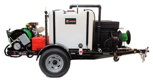 583 Series Trailer Jetter 1238 - 38 HP EFI , 12 GPM, 3800 PSI, 300 Gallon