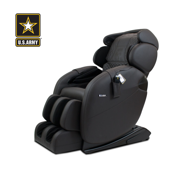 [U.S ARMY EDITION] [LM] Basic L-track Full-body Kahuna Massage Chair, LM-6800S - Chocolate Brown
