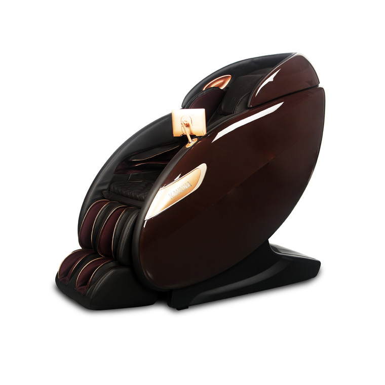 [2021 NEW] Premium Full-body Dual Foot Action SL-Track Kahuna massage chair LM-7500 Brown