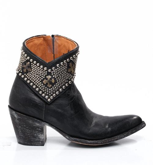 BL1446-3 Gorgeous Old Gringo Clovis Black Leather Boots
