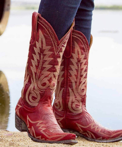 """L 175-262 OLD GRINGO NEVADA 13"""" RED COWGIRL BOOTS"""