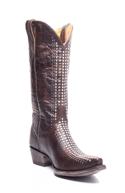 "L2396-1 OLD GRINGO GENOA 13"" VESUVIO BRASS LEATHER COWGIRL BOOTS"