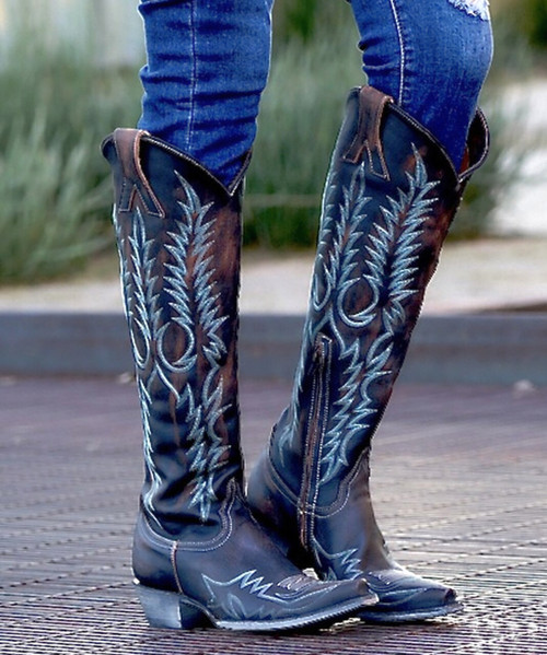 """L1213-11 OLD GRINGO MAYRA BIS RUSTIK SHEDRON TURQUOISE EMBROIDERED 18"""" BOOTS"""