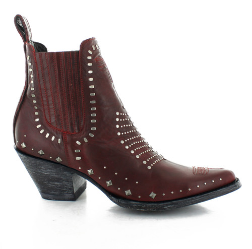 BL2922-1 OLD GRINGO RAINHA VESUVIO RED RIVETED ANKLE BOOTS