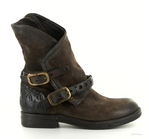 A.S.98 IPSWICH-S CHOCOLATE LEATHER ANKLE BOOTS