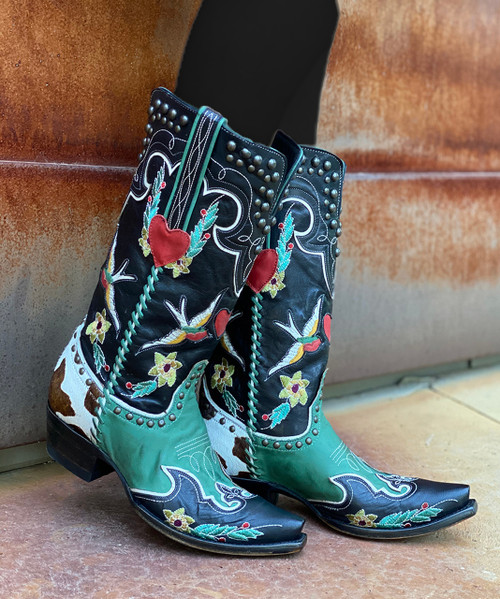 DDL058-1 DOUBLE D RANCH MIDNIGHT COWBOY LADIES BOOTS