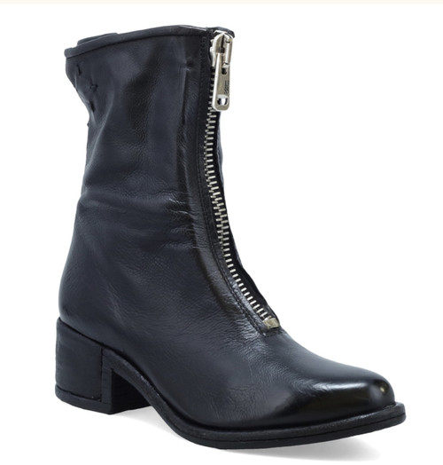 A.S.98 OSSIE-S NERO BLACK LEATHER BOOTS