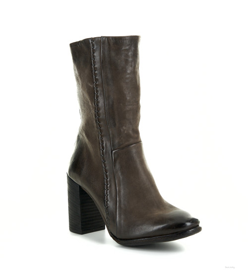 A.S.98 IVA-S FONDENTE BROWN HIGH HEEL LEATHER BOOTS
