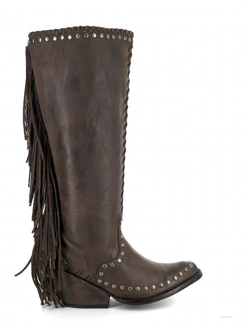 DDL012-2 DOUBLE D RANCH SPIRIT QUEST CHOCOLATE LEATHER TALL BOOTS