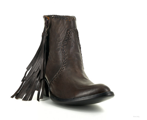 BL1116-8 OLD GRINGO ADELA MAHOGANY BROWN LEATHER ANKLE BOOT