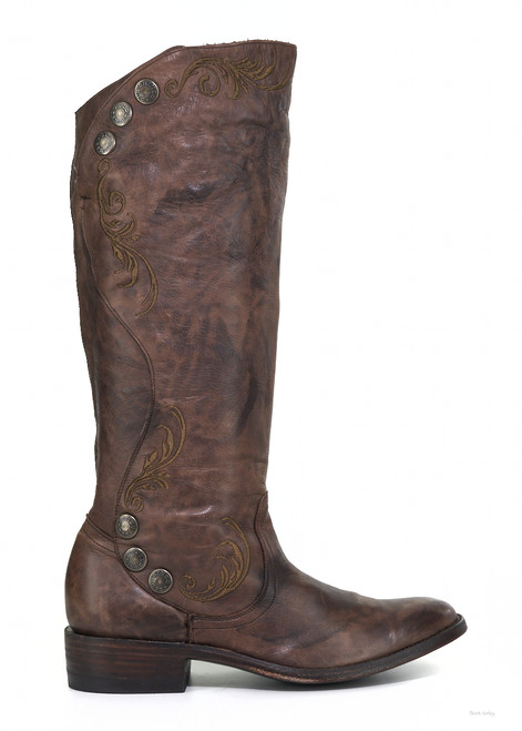 """L1067-6 OLD GRINGO PROCELLA 16"""" CHOCOLATE LEATHER RIDING BOOTS"""