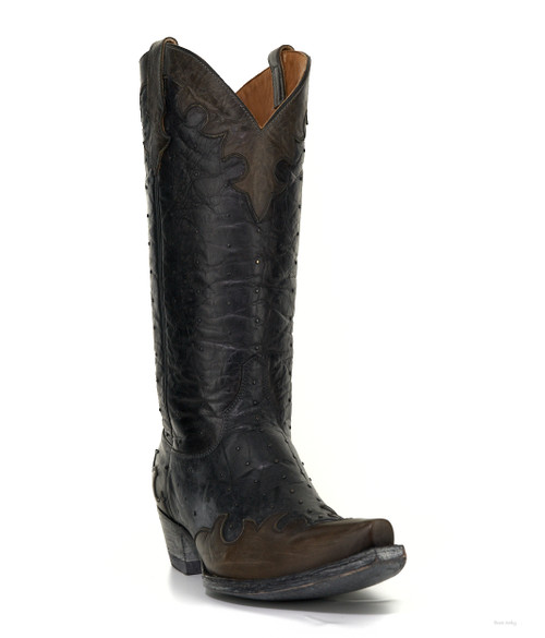 """L2313-2 OLD GRINGO MARLEY 13"""" BLACK LEATHER STUDDED COWGIRL BOOTS"""