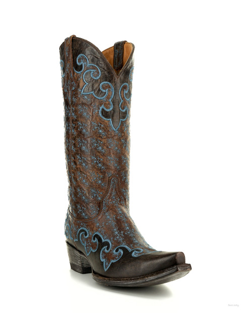 "L2465-2 OLD GRINGO LYNETTE 13"" BRASS LEATHER COWGIRL BOOTS"