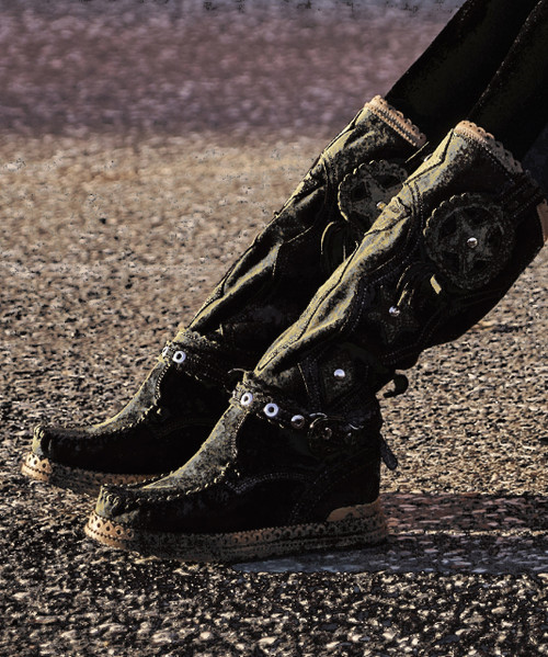 El Vaquero Jesse Apex Barrel Brown Leather Hidden Wedge Heel Boots