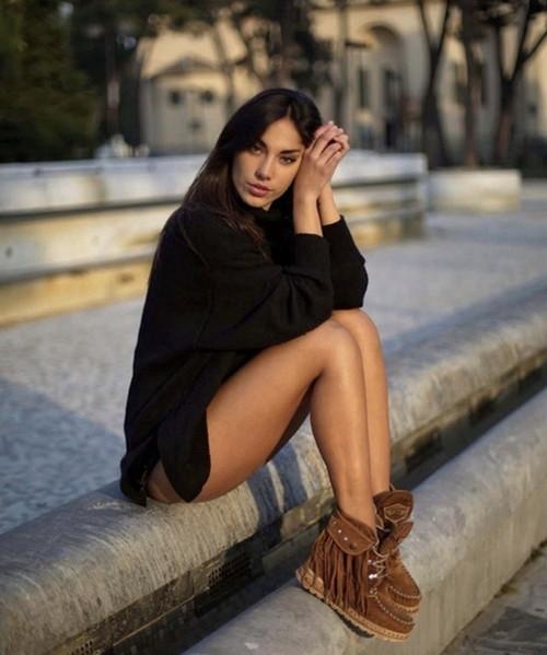EL VAQUERO Grace Roseland Silverstone Mou Carmel Hidden Wedge Moccasin Leather Boots