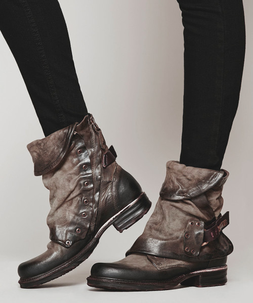 A.S.98 EMERSON FANGO LEATHER BOOTS
