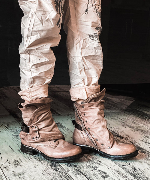 A.S.98 EMERSON GRUNGE LEATHER BOOTS
