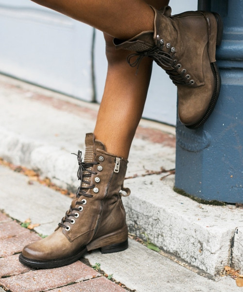 A.S.98 SAUNDER TABACCO LEATHER BOOTS
