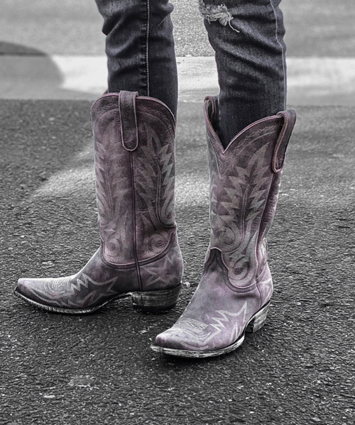 "L 175-449 OLD GRINGO NEVADA  VINTAGE  ROSA 13"" LEATHER BOOTS"
