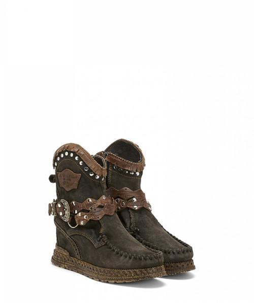 EL VAQUERO Abby Silverstone Ebony Wedge Moccasin Boots