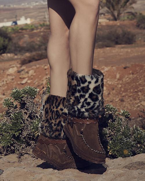 El Vaquero Amelia Silverstone Tobacco Leather Hidden Wedge Heel Boots