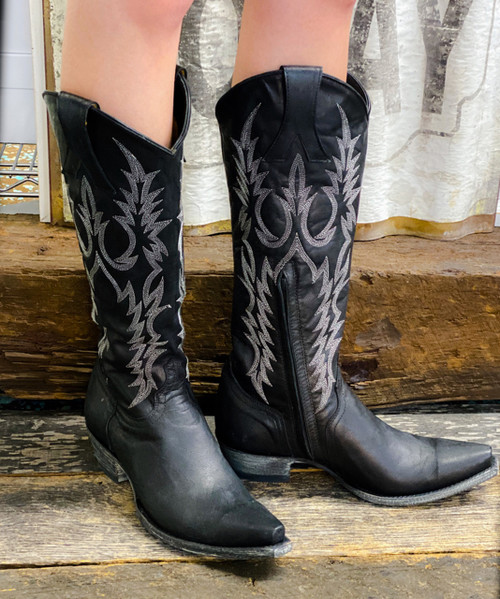 """L 601-2 Old Gringo Women's Mayra 15"""" Boots Black"""